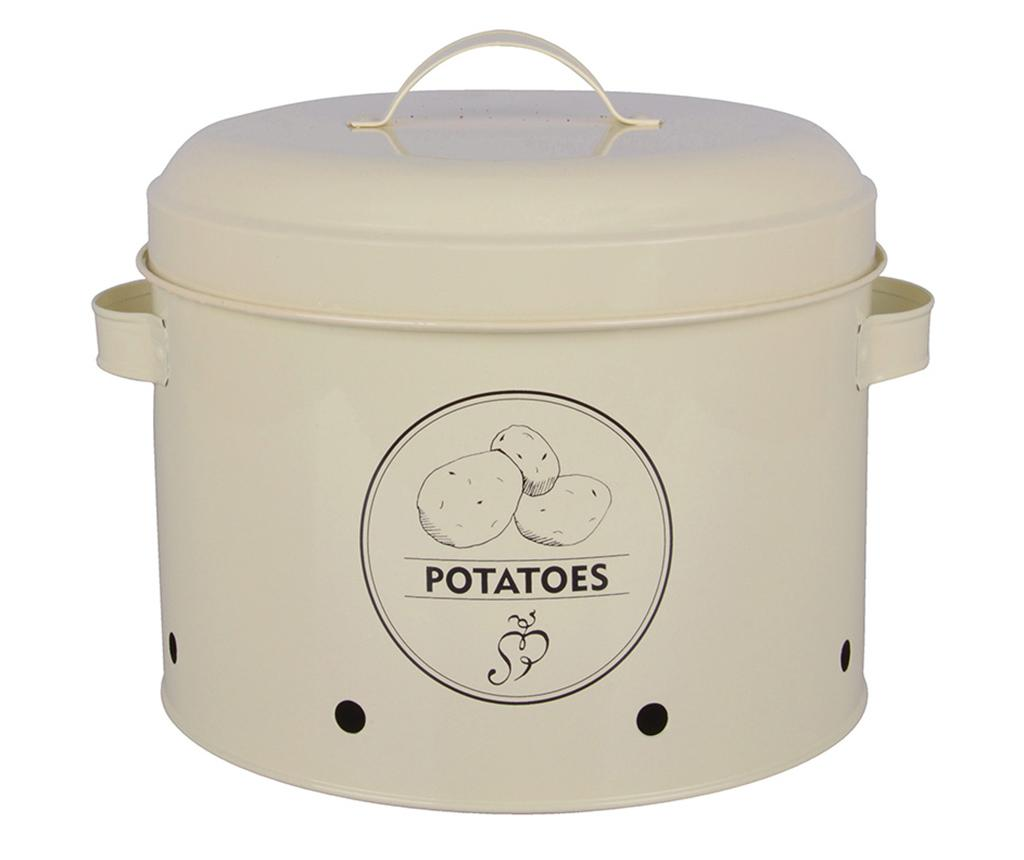 Recipient cu capac Galu Potatoes - Esschert Design, Crem imagine
