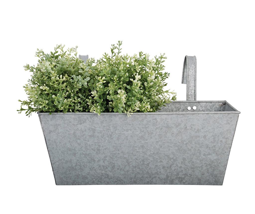 Jardiniera suspendabila Flowy - Esschert Design, Gri & Argintiu poza
