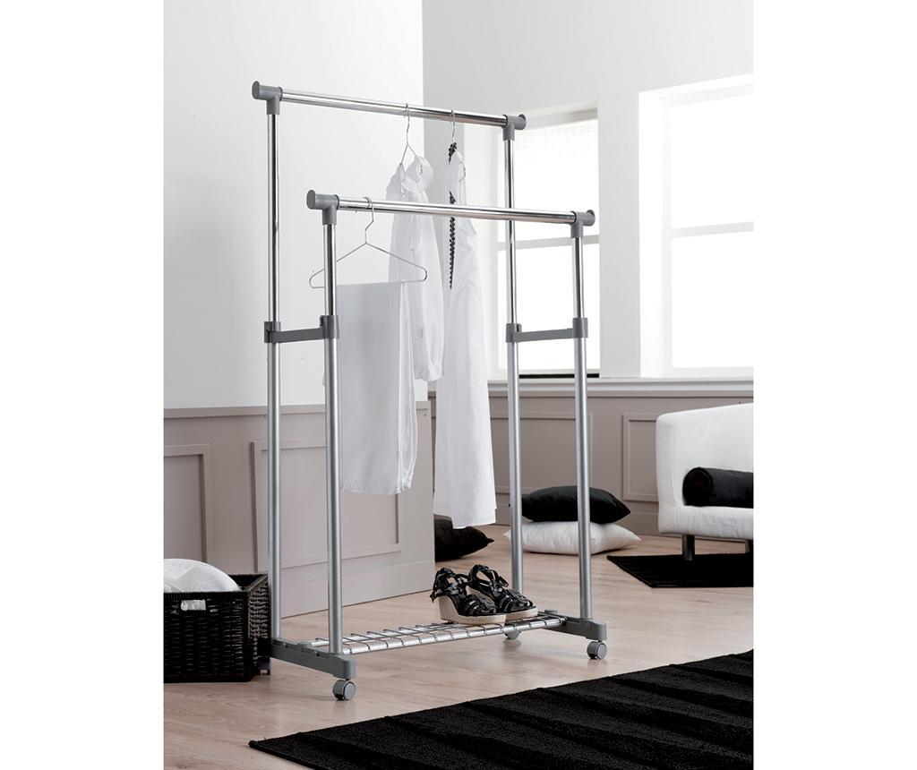 Suport extensibil pentru umerase Dress Up Double - Compactor, Gri & Argintiu vivre.ro