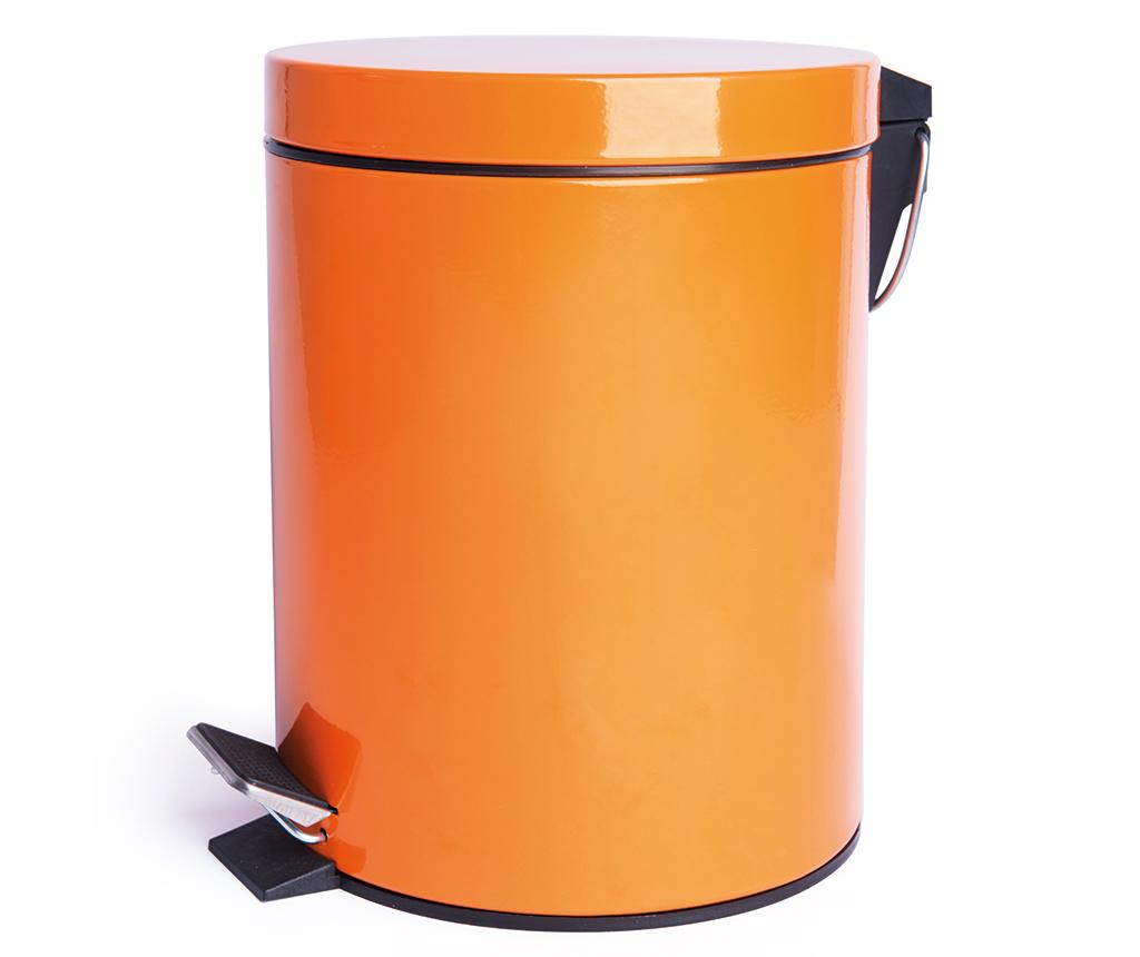 Cos de gunoi cu capac si pedala Complete Orange 5 L imagine