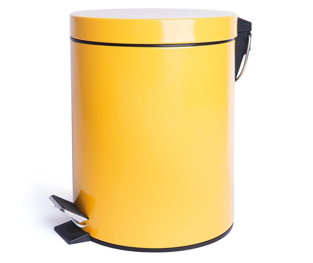 Cos de gunoi cu pedala Complete Yellow 5 L - Excelsa, Galben & Auriu