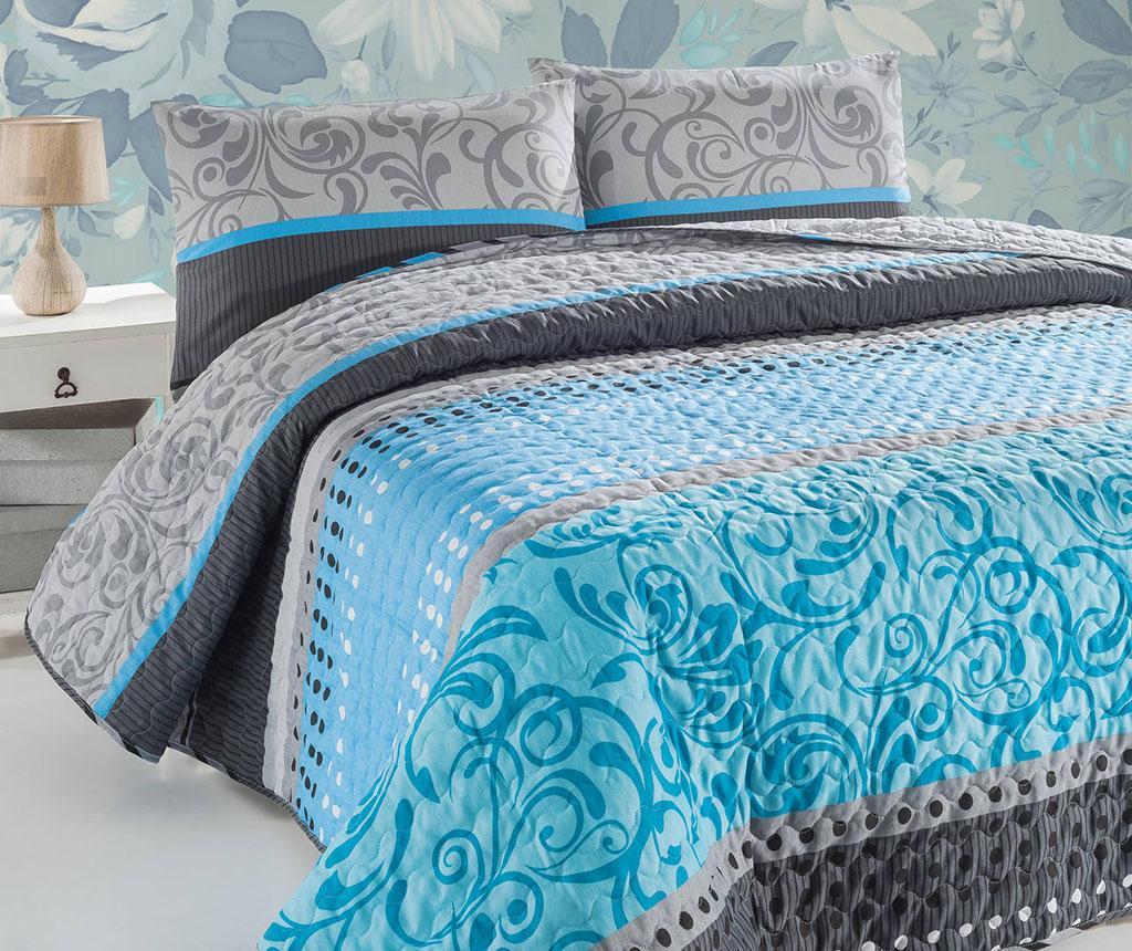 Set cuvertura matlasata Double Miranda Turquoise
