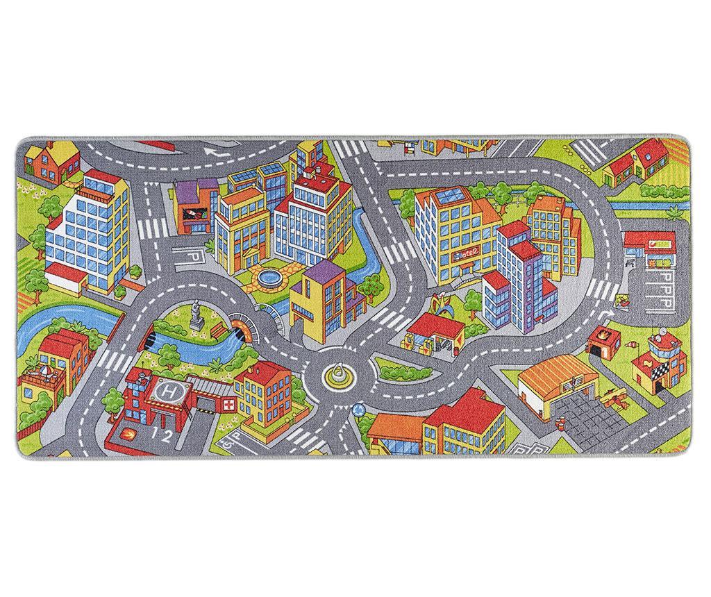 Covor de joaca Smart City Grey 140x200 cm - Hanse Home, Negru,Multicolor