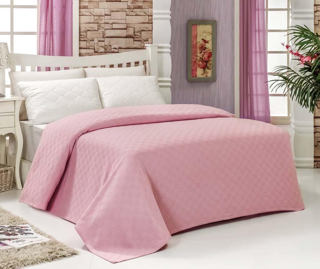 Cuvertura Pique Home Pink 200x240 cm