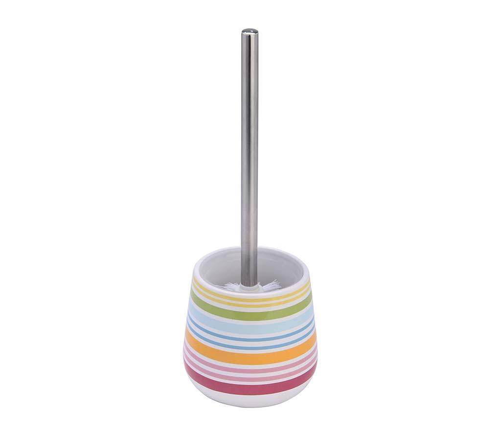 Perie de toaleta cu suport Rio - Axentia, Multicolor imagine