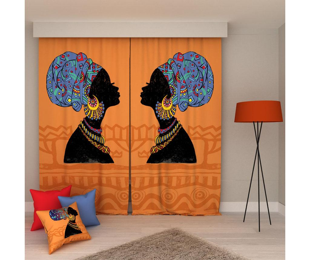 Set 2 draperii Africa 140x250 cm