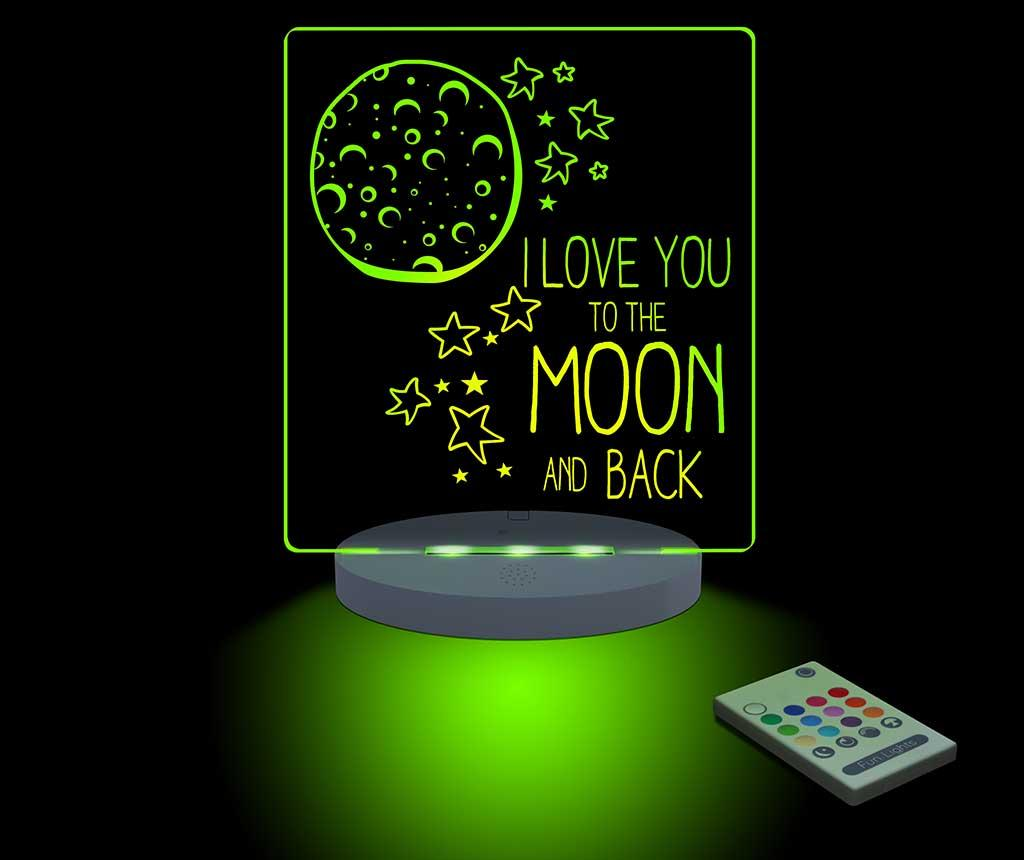 Lampa de veghe Moon & Back - FunLights, Multicolor