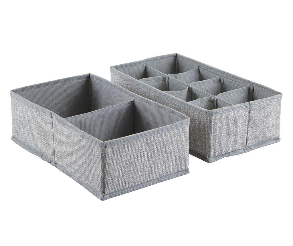 Set 2 organizatoare pentru sertar Aldo Effect Grey