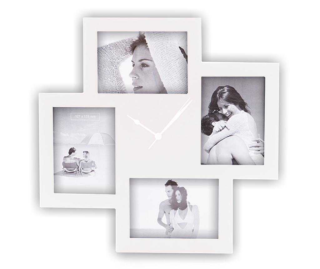 Ceas de perete cu 4 rame foto Collage White