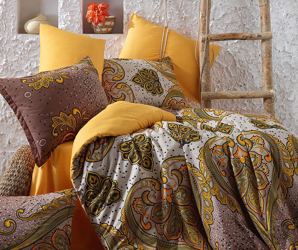 Lenjerie de pat King Ranforce Feza Yellow vivre.ro