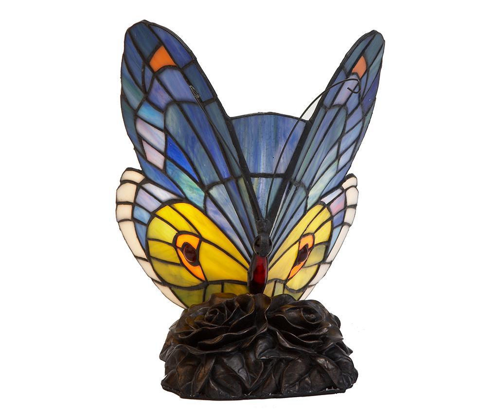Lampa de veghe Sweet Butterfly - Tiffan y Luz, Albastru imagine