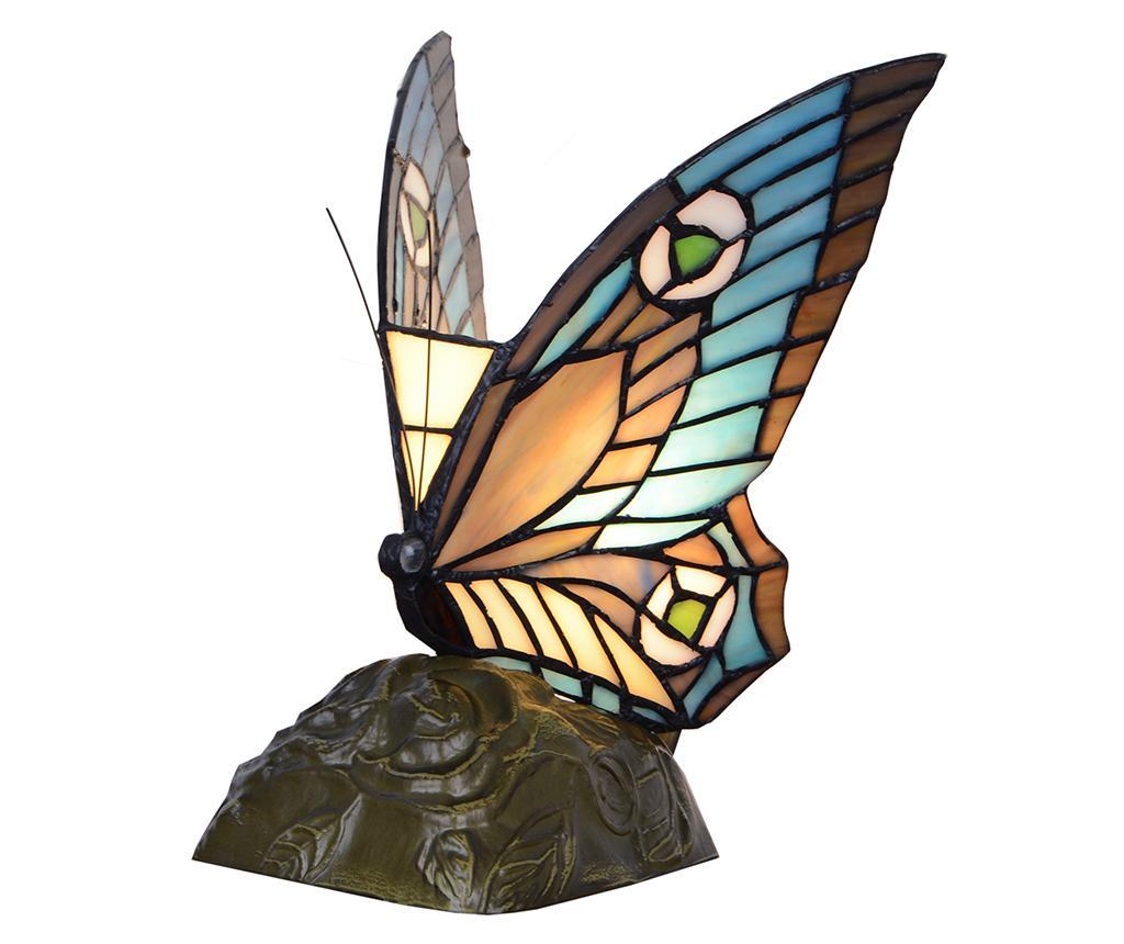 Lampa de veghe Beautiful Butterfly - Tiffan y Luz, Multicolor imagine
