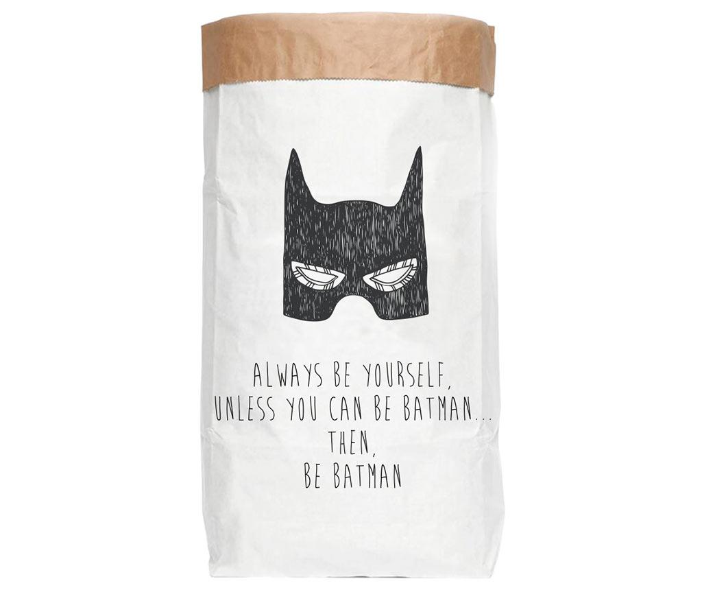 Punga pentru depozitare Batman - Little Nice Things, Alb
