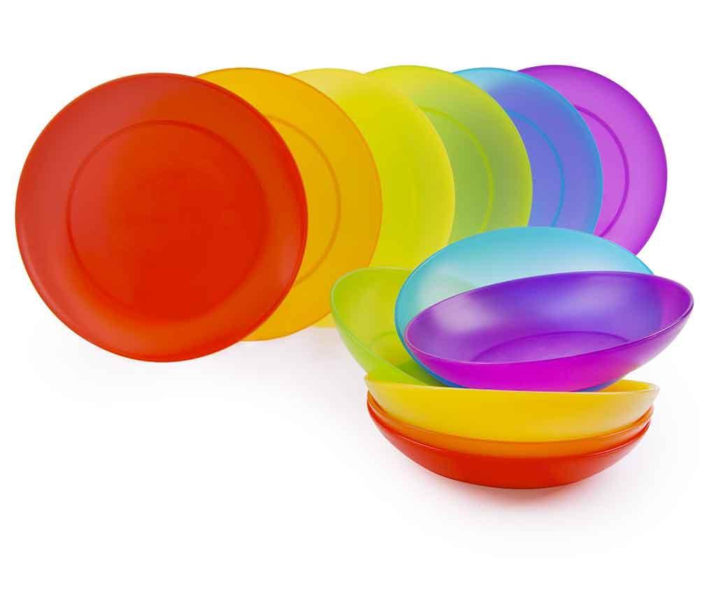 Set de masa 12 piese Rainbow imagine