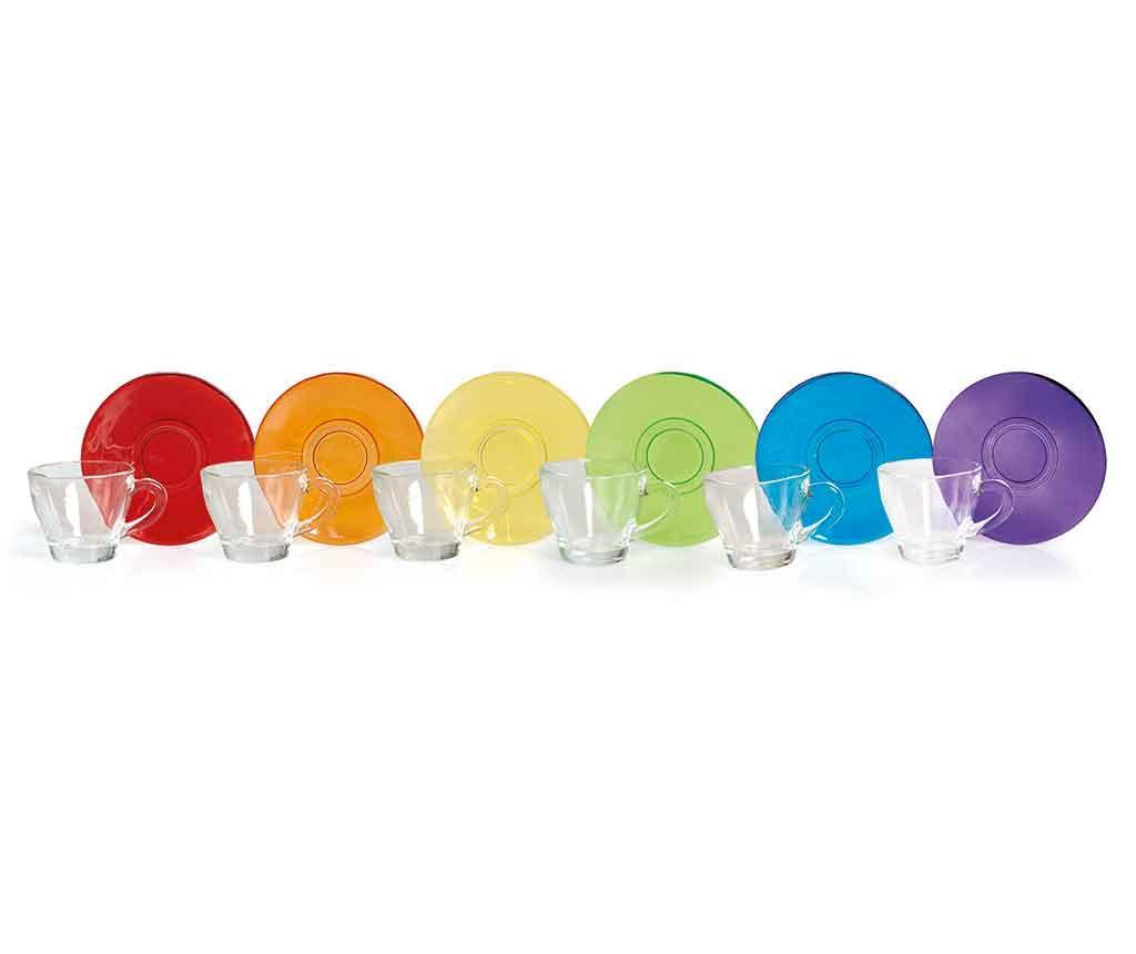 Set 6 cesti si 6 farfurioare Desiree - Excelsa, Multicolor imagine