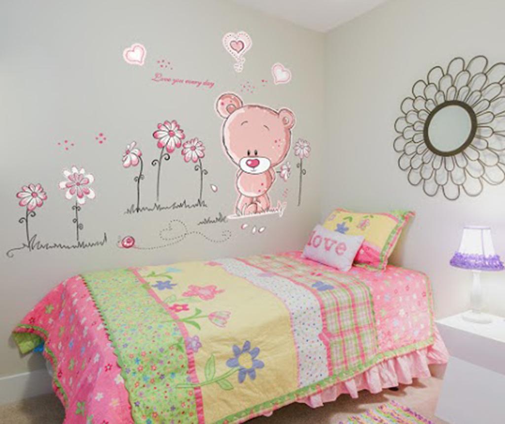 Sticker Pink Teddy Bear