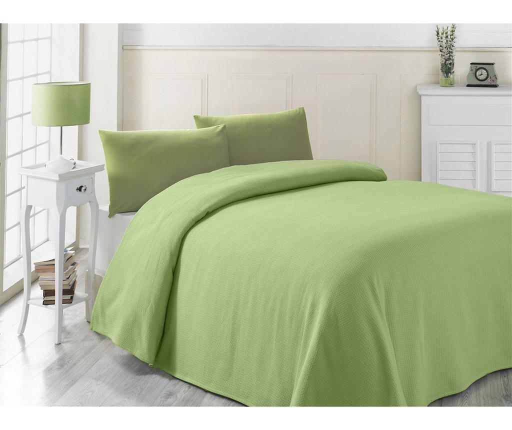 Cuvertura Pique Cozy Green 200x230 cm