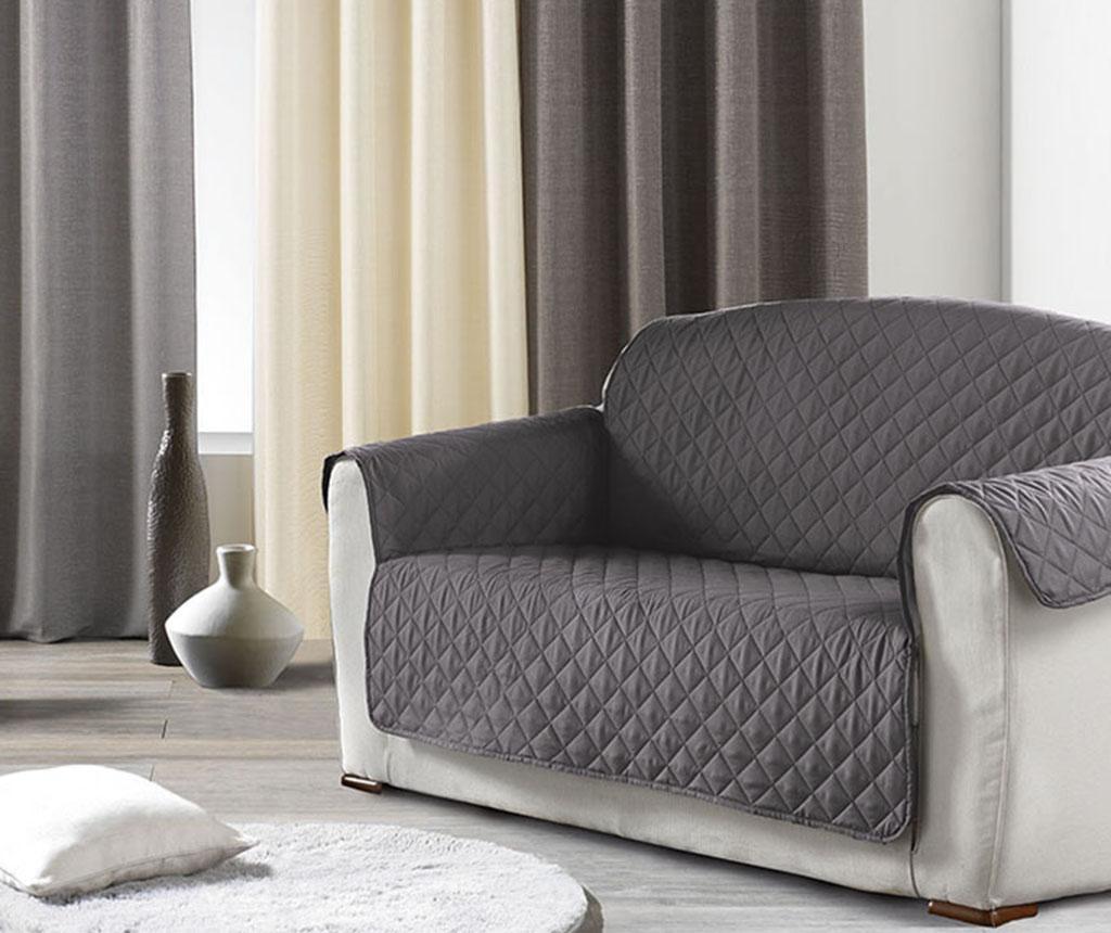 Husa matlasata pentru canapea Club Grey 179x279 cm