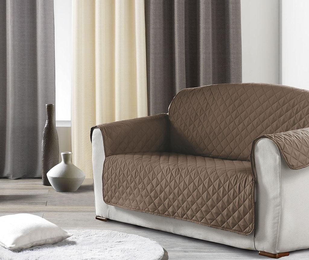 Husa matlasata pentru canapea Club Brown 179x279 cm imagine