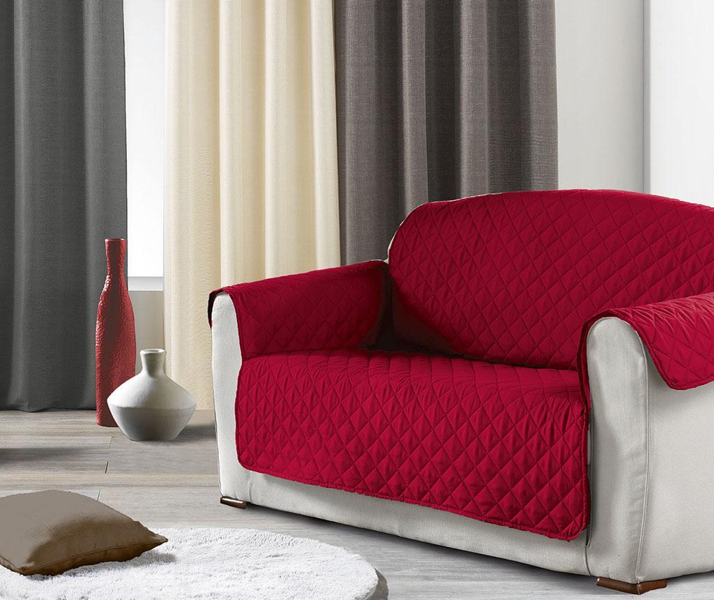 Husa matlasata pentru canapea Club Red 179x223 cm - L3C, Rosu imagine