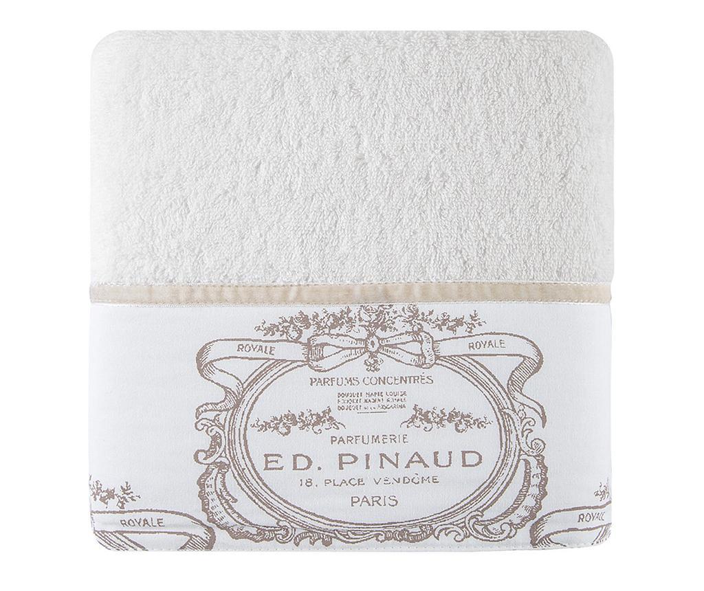 Prosop de baie Emilia Cream 50x90 cm - Eurofirany, Alb imagine