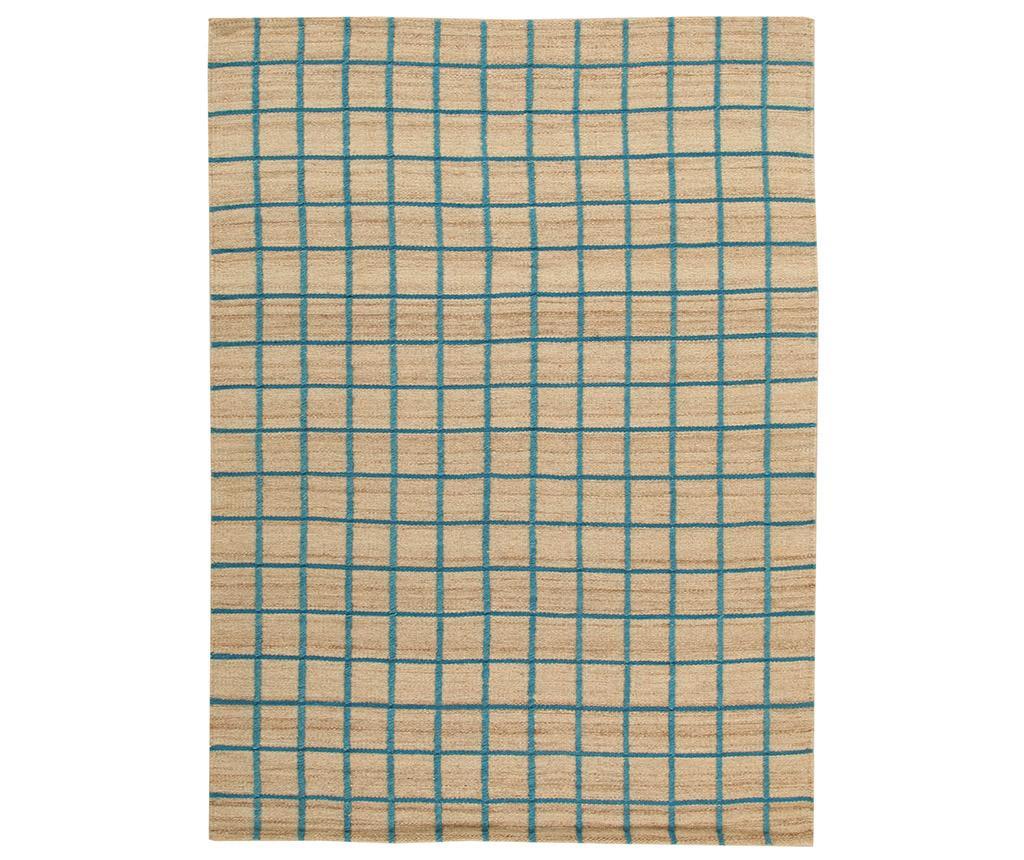 Covor Kilim Box Blue 100x160 cm - Jalal, Albastru imagine