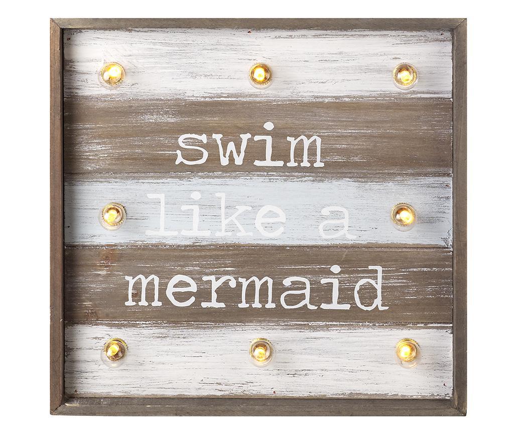 Decoratiune luminoasa de perete Swim like a Mermaid - Heaven Sends, Maro de la Heaven Sends
