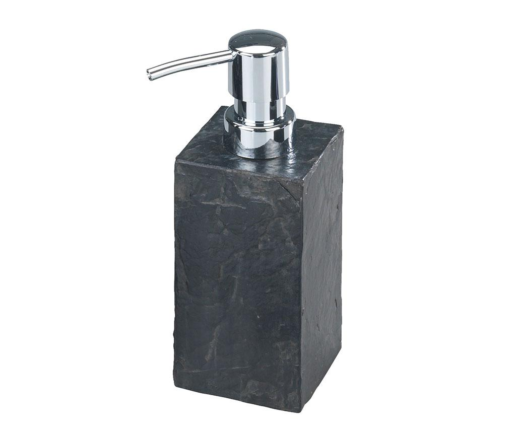 Dispenser sapun lichid Slate Rock 240 ml - Wenko, Gri & Argintiu imagine