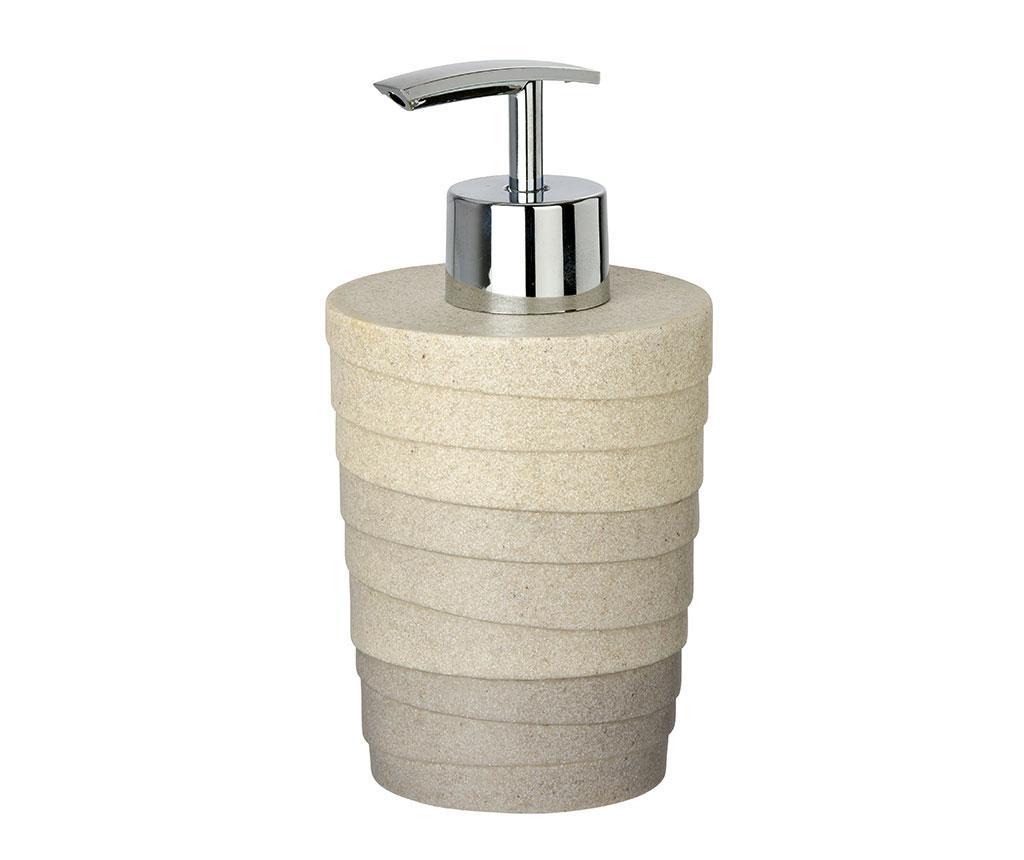 Dispenser sapun lichid Cuzco 200 ml - Wenko, Gri & Argintiu imagine