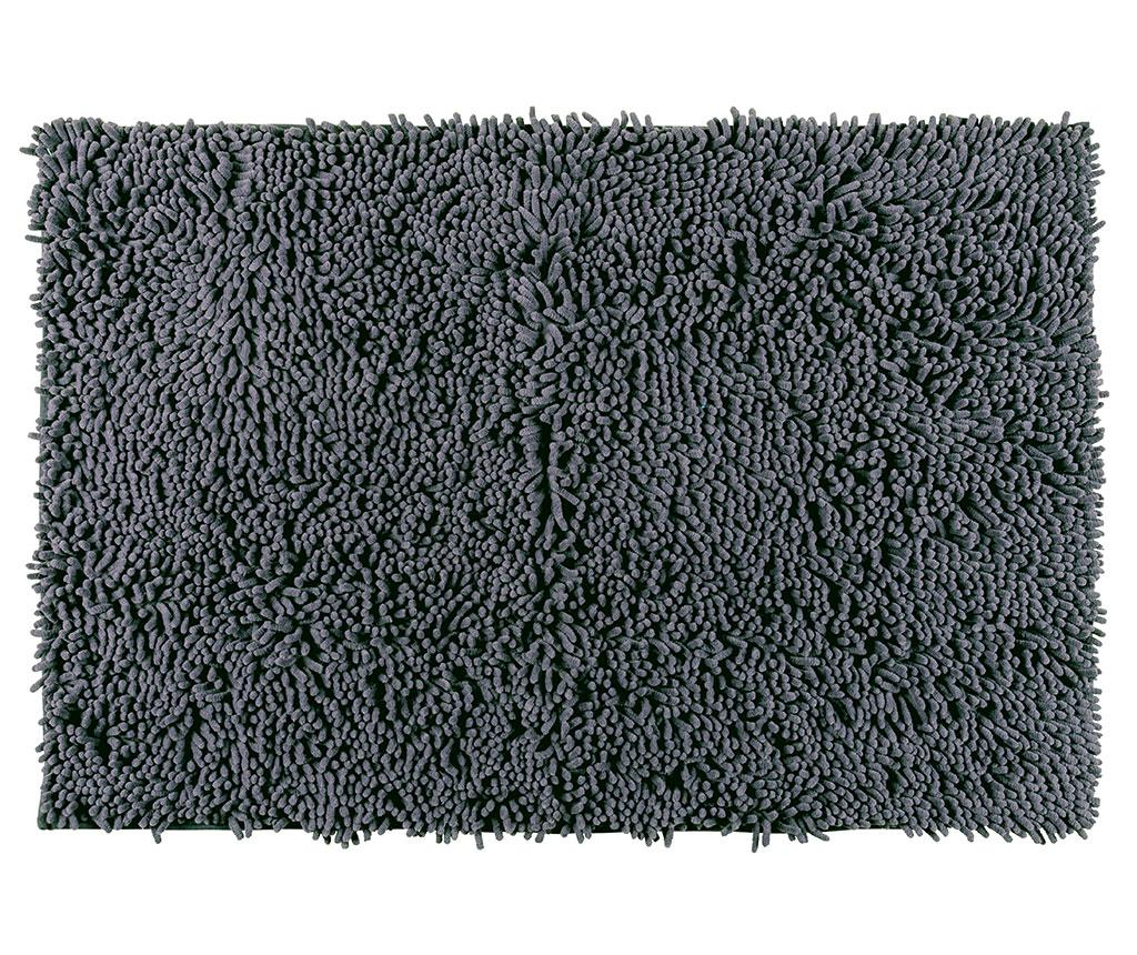Covoras de baie Chenille Grey 50x80 cm - Wenko, Gri & Argintiu