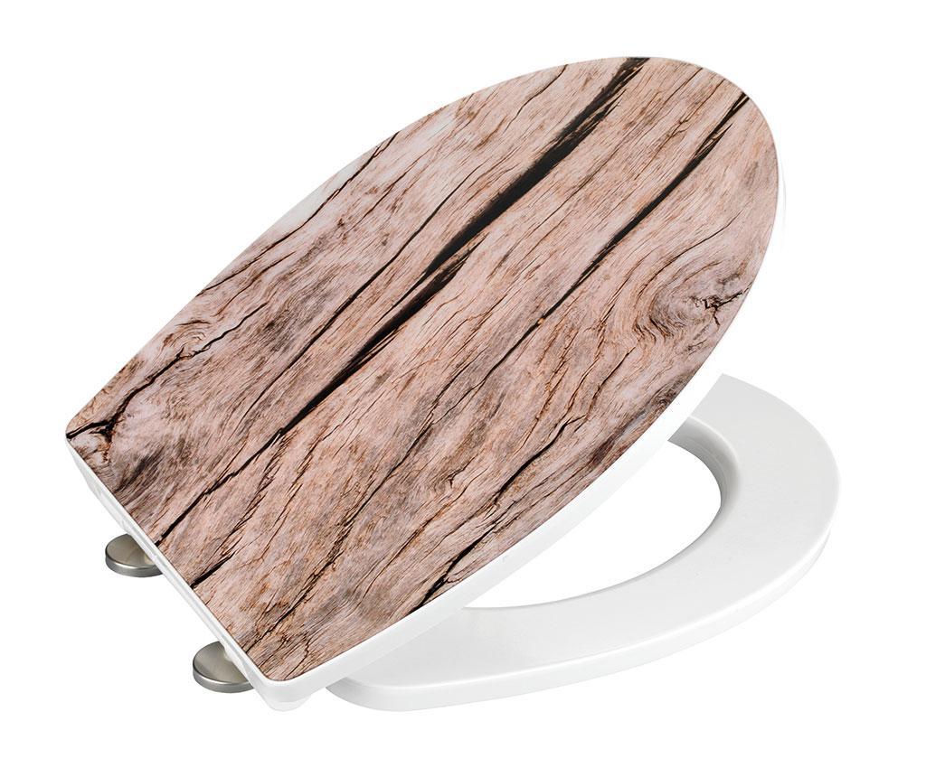Capac de toaleta Vintage Wood Look - Wenko vivre.ro