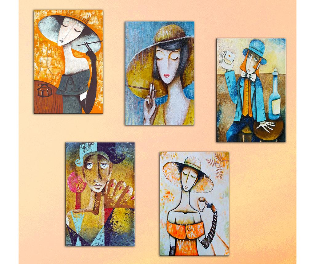 Set 5 tablouri Modern Women 20×30 cm de la Tablo Center