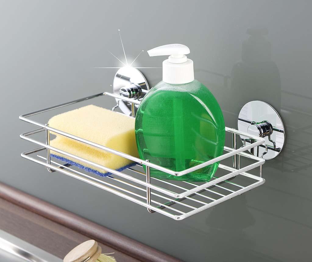 Suport pentru accesorii de bucatarie Mini Turbo-Loc - Wenko, Gri & Argintiu poza