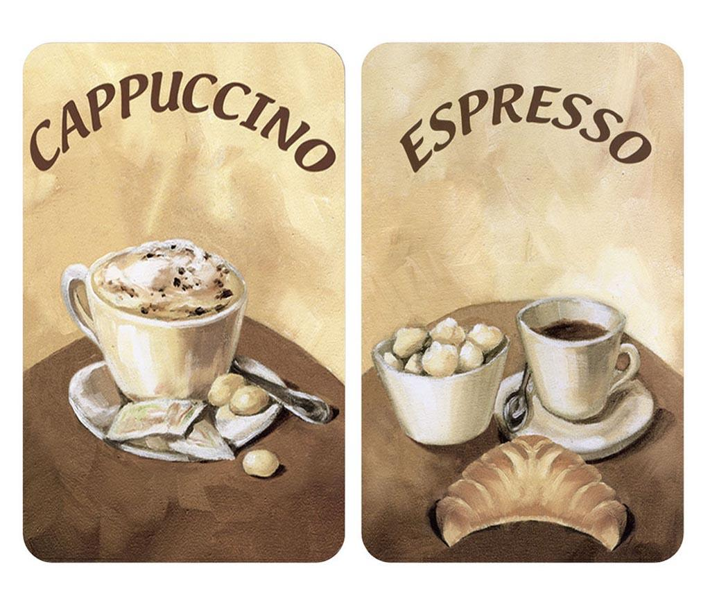 Set 2 planse protectoare pentru plita Coffee - Wenko, Maro poza