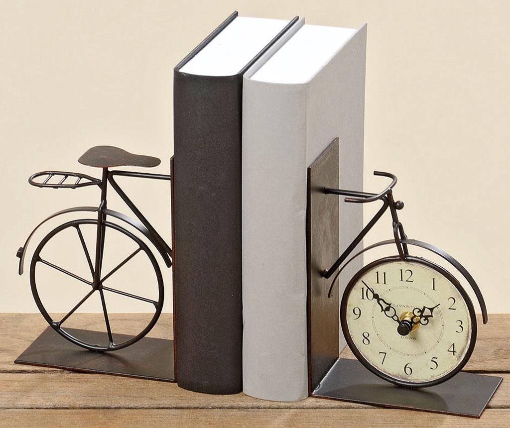 Set 2 suporturi pentru carti cu ceas Bike