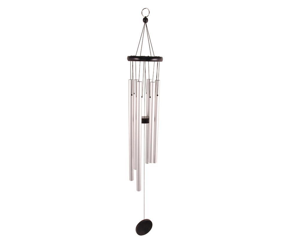 Clopotei de vant Windy - Esschert Design, Gri & Argintiu