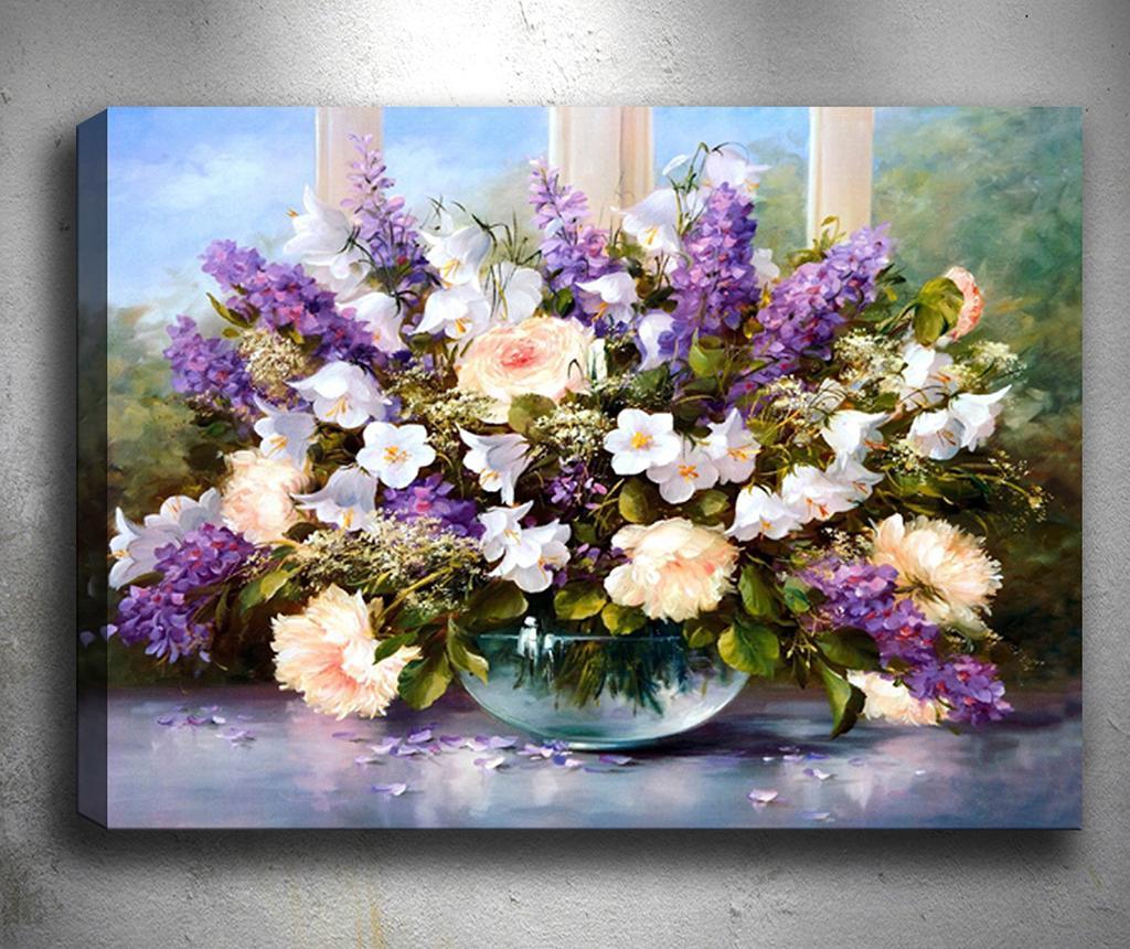 Tablou 3D Nice Purple Flowers 50x70 cm - Tablo Center, Mov imagine