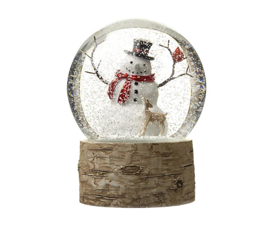 Decoratiune Snowman In A Globe imagine