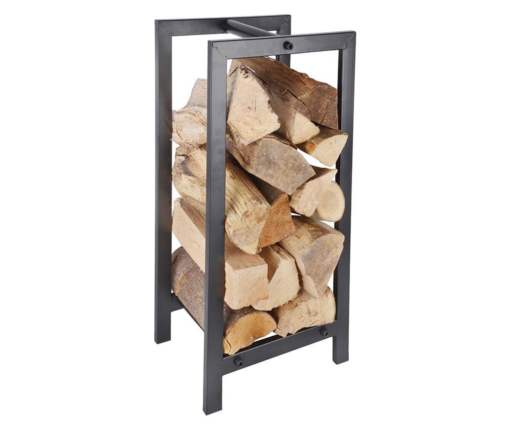 Suport pentru lemne Carrier - Esschert Design, Gri & Argintiu,Negru
