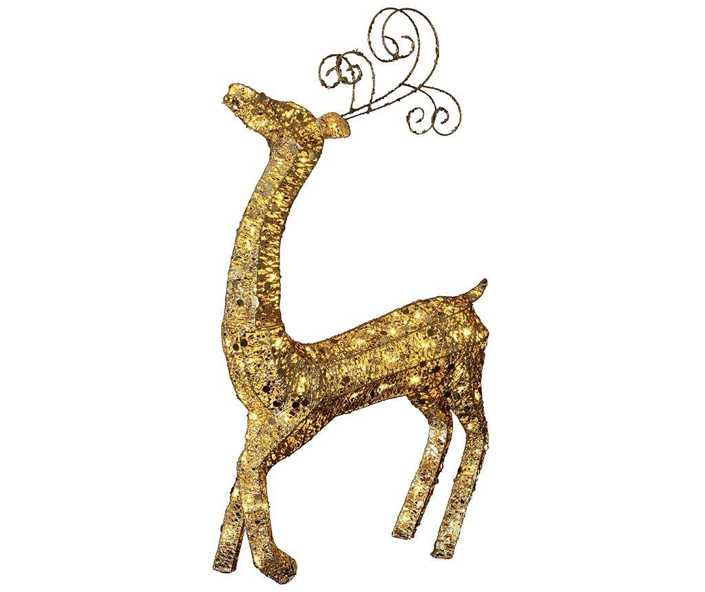 Decoratiune luminoasa pentru exterior Big Reindeer Gold imagine