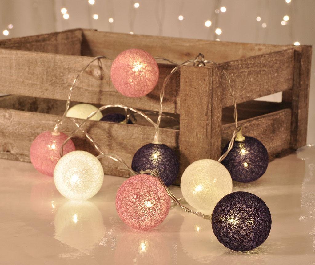 Ghirlanda luminoasa String Lights Purple, White, Pink