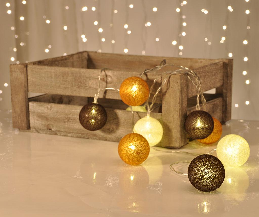 Ghirlanda luminoasa String Lights Brown, White, Bronze