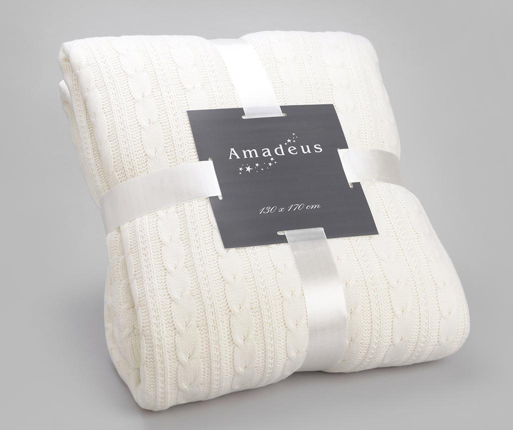 Pled Knit White 130x170 cm