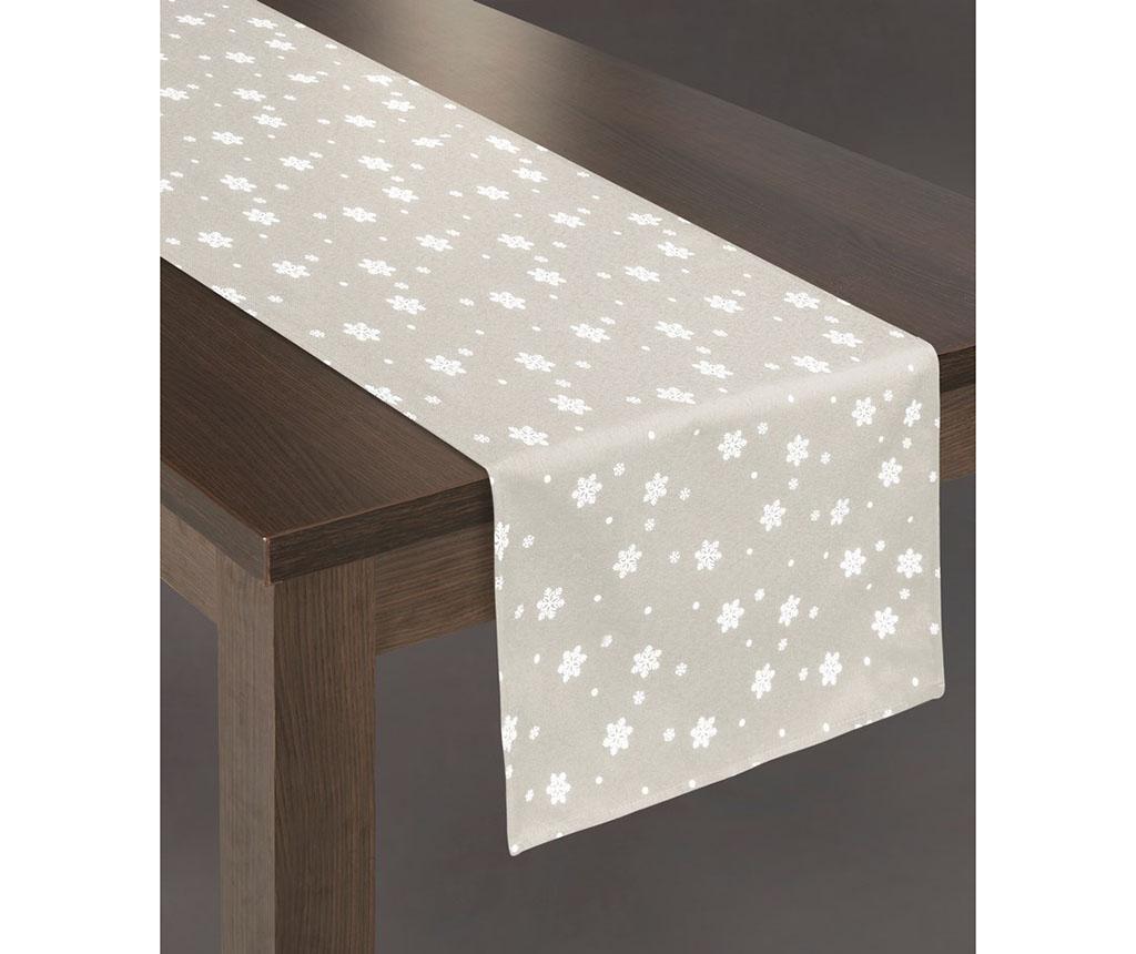Traversa de masa Carly Light Grey 40x140 cm