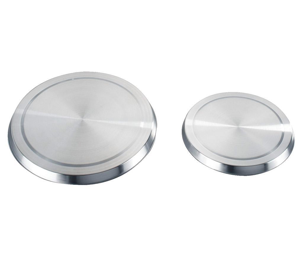 Set 4 protectii pentru ochiurile aragazului Electric - Wenko, Gri & Argintiu