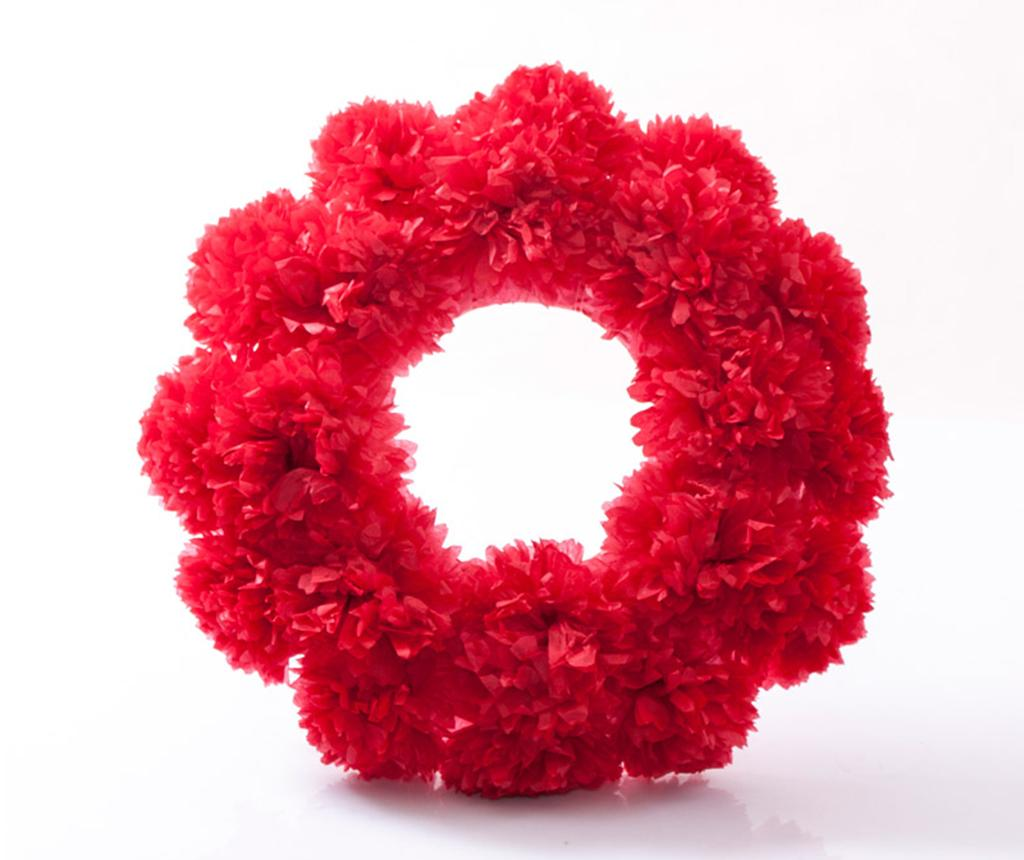 Decoratiune de usa Red flower 50 cm - Luigi Dal Pozzo