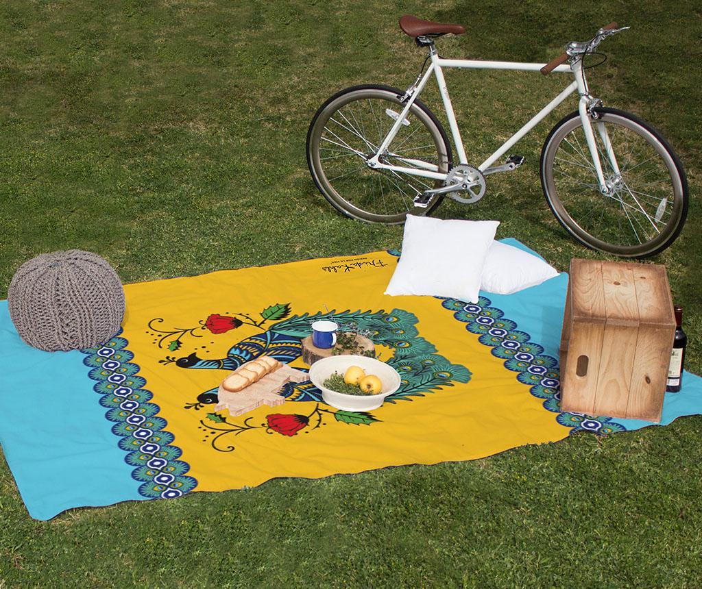 Patura pentru picnic Peacock 140x170 cm