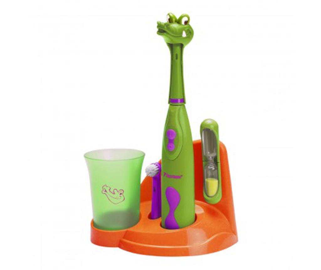 Set periuta de dinti electrica si accesorii pentru copii Clean Crazy Croc imagine