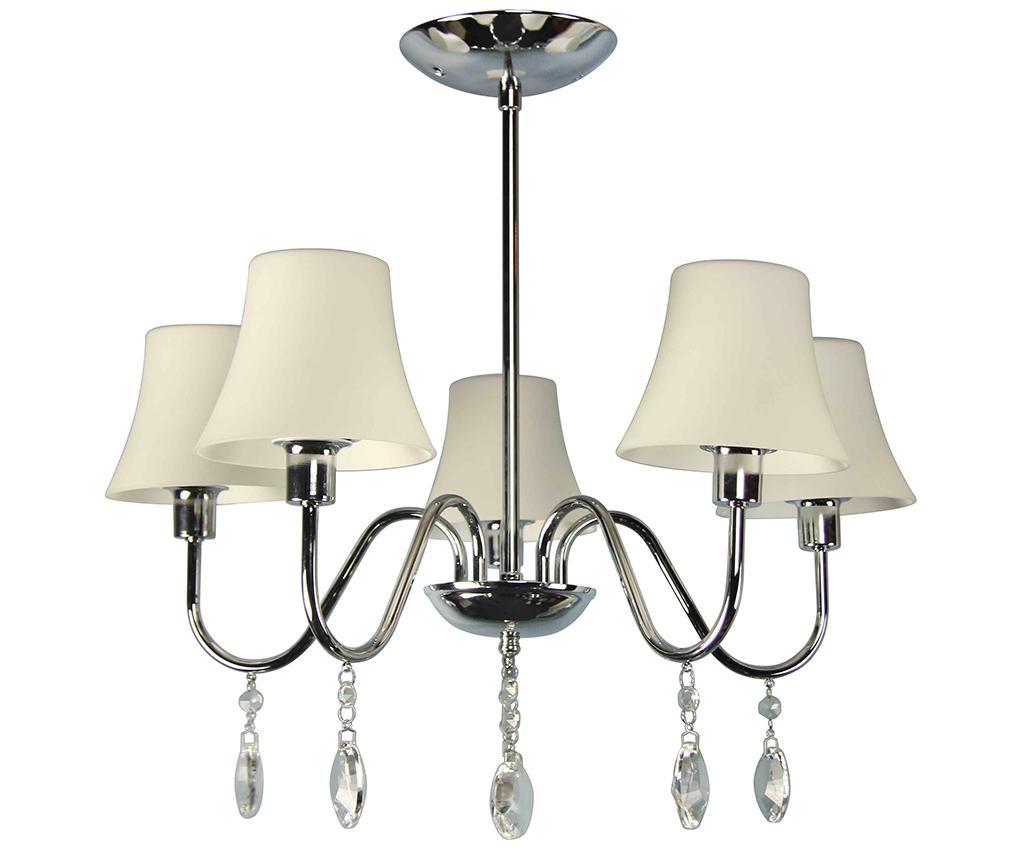 Lustra Sorento - Candellux Lighting, Alb,Gri & Argintiu imagine