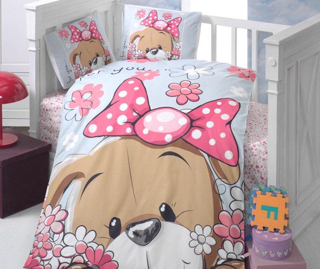 Lenjerie de patut Ranforce Cute Puppy 100x150 imagine